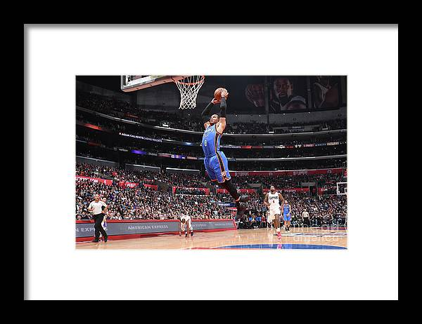 Nba Pro Basketball Framed Print featuring the photograph Russell Westbrook by Andrew D. Bernstein