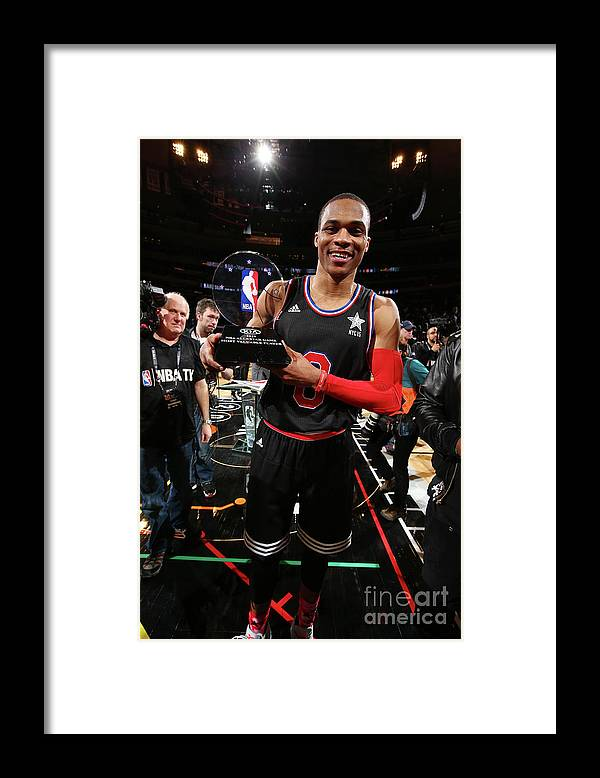 Event Framed Print featuring the photograph Russell Westbrook by Nathaniel S. Butler