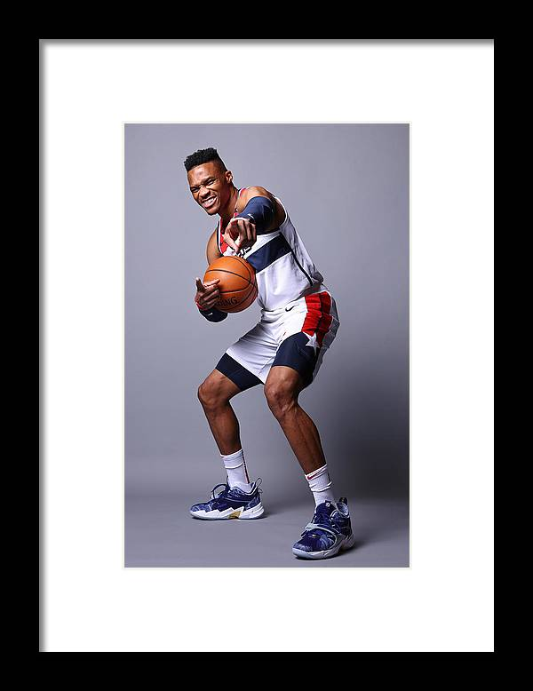 Media Day Framed Print featuring the photograph Russell Westbrook by Ned Dishman
