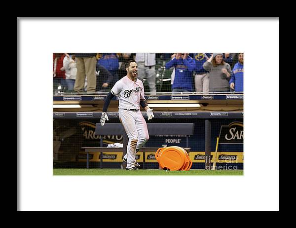 Ninth Inning Framed Print featuring the photograph Ryan Braun by Dylan Buell