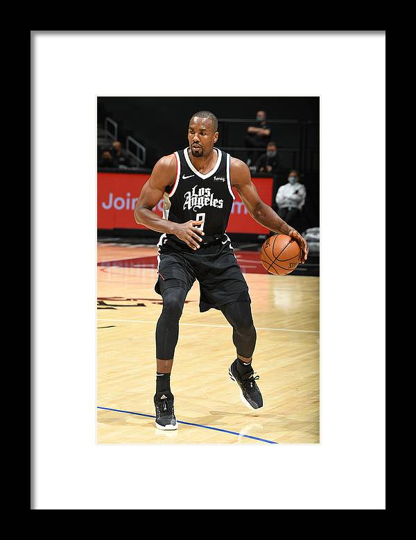 Nba Pro Basketball Framed Print featuring the photograph Serge Ibaka by Andrew D. Bernstein