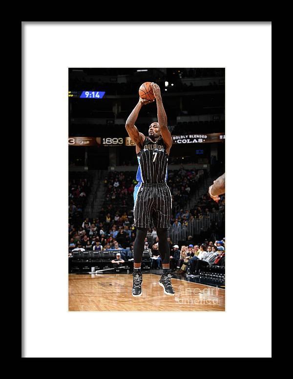 Nba Pro Basketball Framed Print featuring the photograph Serge Ibaka by Garrett Ellwood