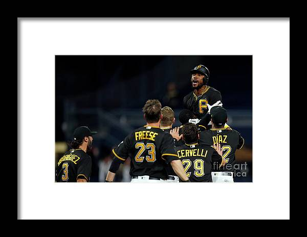 People Framed Print featuring the photograph Starling Marte by Justin K. Aller