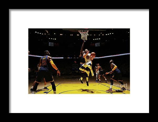 Playoffs Framed Print featuring the photograph Stephen Curry by Garrett Ellwood