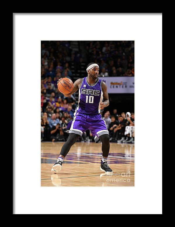 Nba Pro Basketball Framed Print featuring the photograph Ty Lawson by Garrett Ellwood