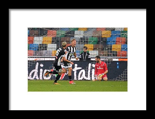 Udine Framed Print featuring the photograph Udinese Calcio v Atalanta BC - Serie A by Dino Panato