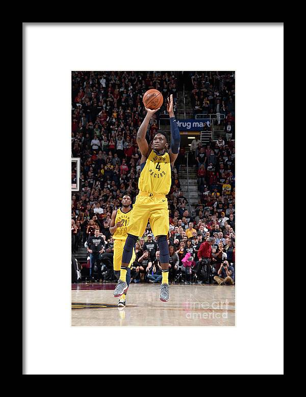 Playoffs Framed Print featuring the photograph Victor Oladipo by David Liam Kyle