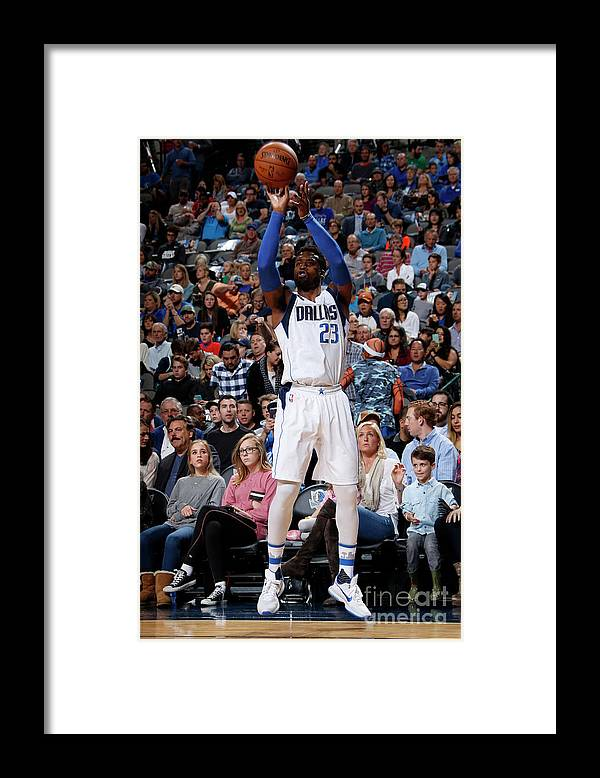 Nba Pro Basketball Framed Print featuring the photograph Wesley Matthews by Glenn James