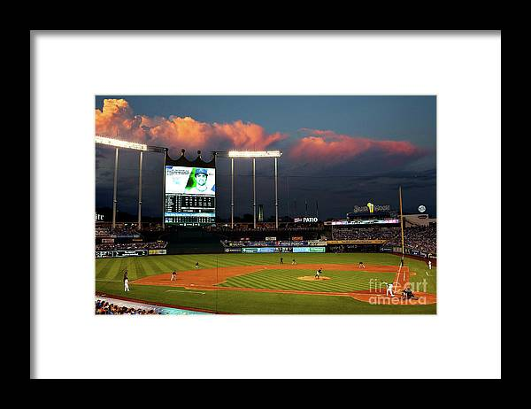 People Framed Print featuring the photograph Whit Merrifield by Jamie Squire