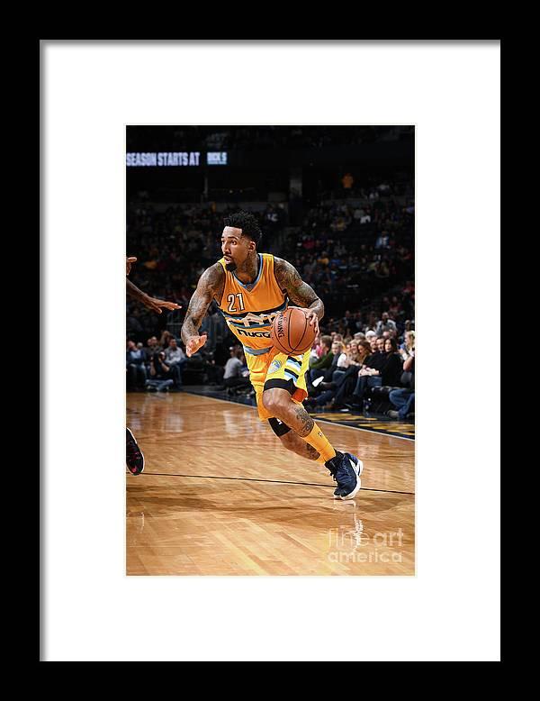Nba Pro Basketball Framed Print featuring the photograph Wilson Chandler by Garrett Ellwood