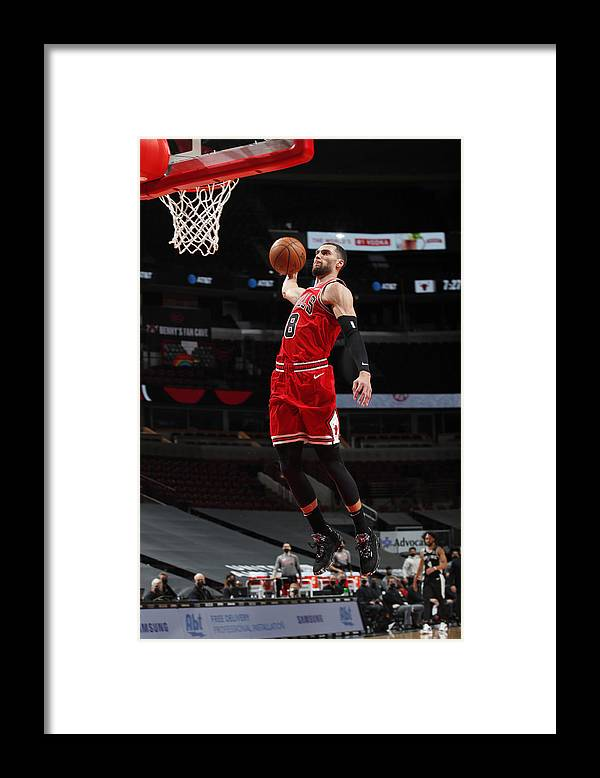 Nba Pro Basketball Framed Print featuring the photograph Zach Lavine by Jeff Haynes