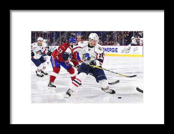 Sport Framed Print featuring the photograph AHL: APR 06 Springfield Thunderbirds at Laval Rocket by Icon Sportswire