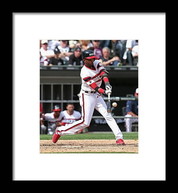 American League Baseball Framed Print featuring the photograph Alexei Ramirez by Jonathan Daniel
