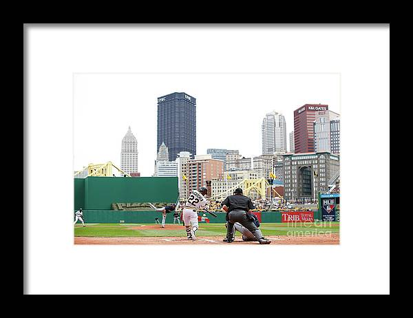 American League Baseball Framed Print featuring the photograph Andrew Mccutchen by Jared Wickerham