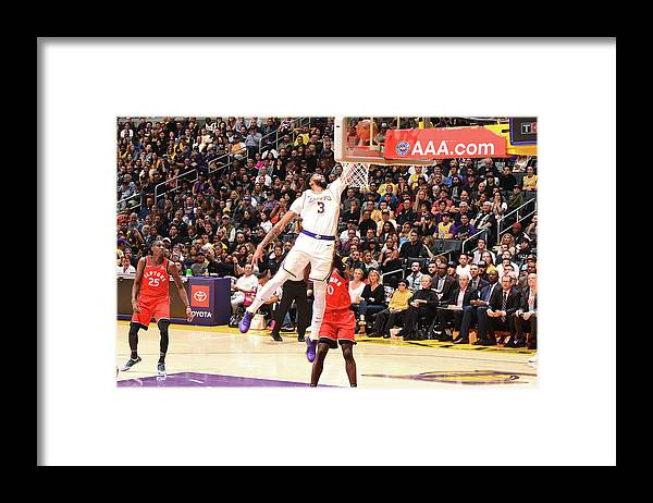 Nba Pro Basketball Framed Print featuring the photograph Anthony Davis by Andrew D. Bernstein