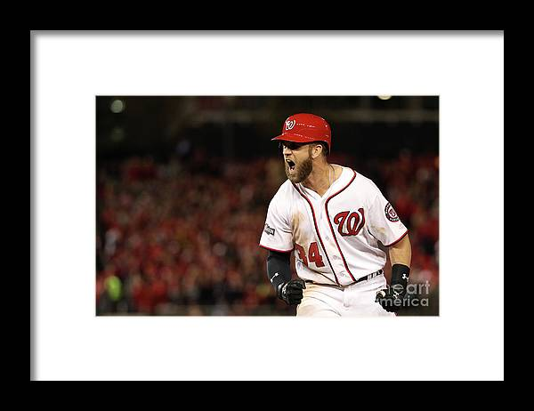 Three Quarter Length Framed Print featuring the photograph Bryce Harper by Patrick Smith