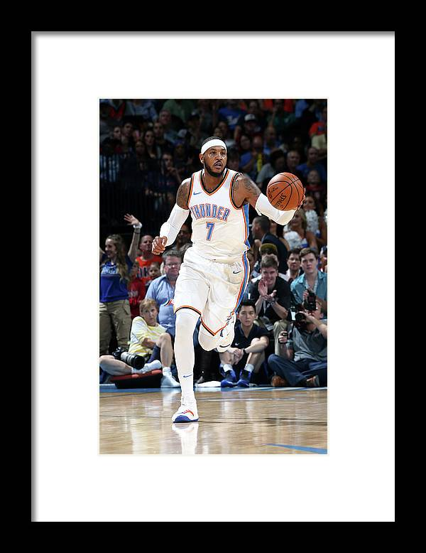 Nba Pro Basketball Framed Print featuring the photograph Carmelo Anthony by Layne Murdoch