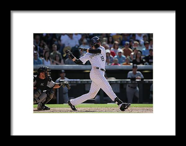 People Framed Print featuring the photograph Charlie Blackmon by Doug Pensinger