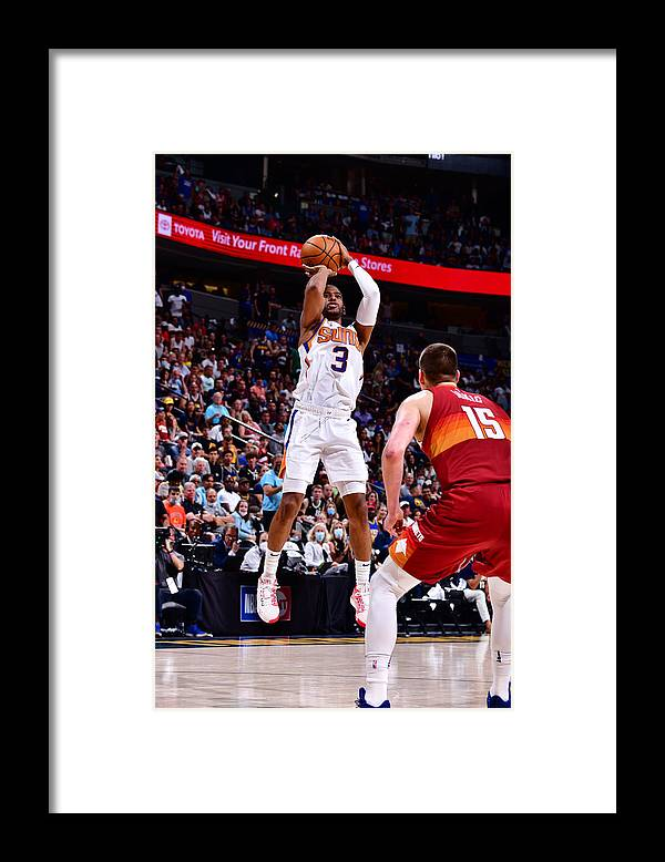 Playoffs Framed Print featuring the photograph Chris Paul by Barry Gossage