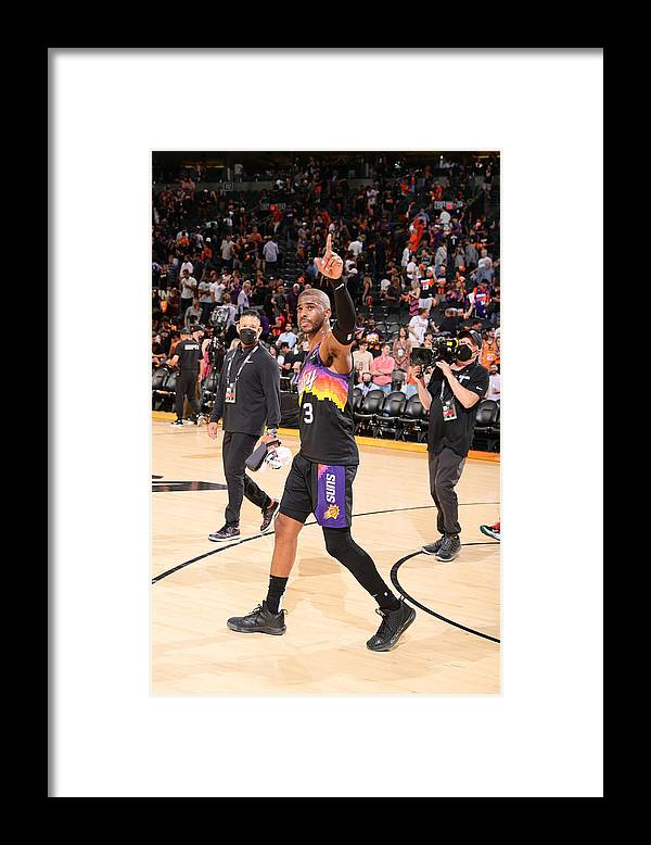 Playoffs Framed Print featuring the photograph Chris Paul by Nathaniel S. Butler