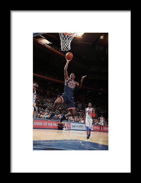 Nba Pro Basketball Framed Print featuring the photograph Damyean Dotson by Nathaniel S. Butler