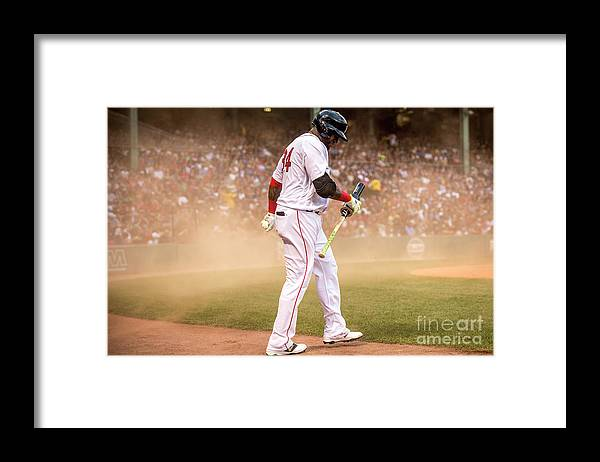Wind Framed Print featuring the photograph David Ortiz by Billie Weiss/boston Red Sox