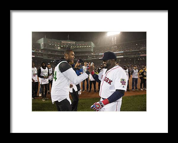 Three Quarter Length Framed Print featuring the photograph David Ortiz by Michael Ivins/Boston Red Sox