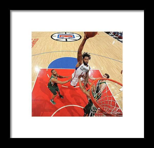 Playoffs Framed Print featuring the photograph Deandre Jordan by Andrew D. Bernstein