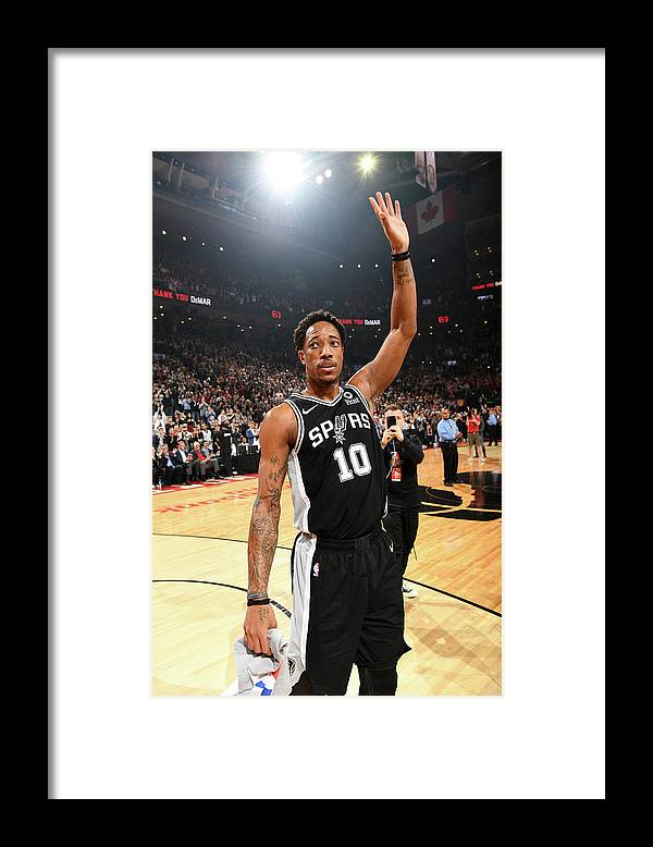 Thank You Framed Print featuring the photograph Demar Derozan by Ron Turenne