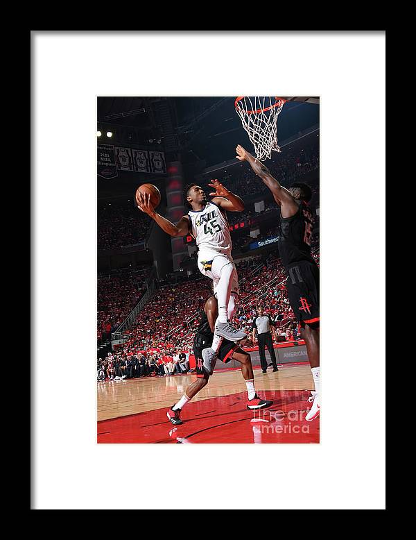 Playoffs Framed Print featuring the photograph Donovan Mitchell by Andrew D. Bernstein