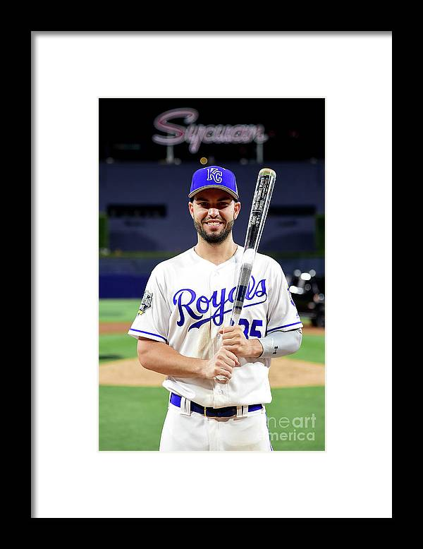 Three Quarter Length Framed Print featuring the photograph Eric Hosmer by Harry How