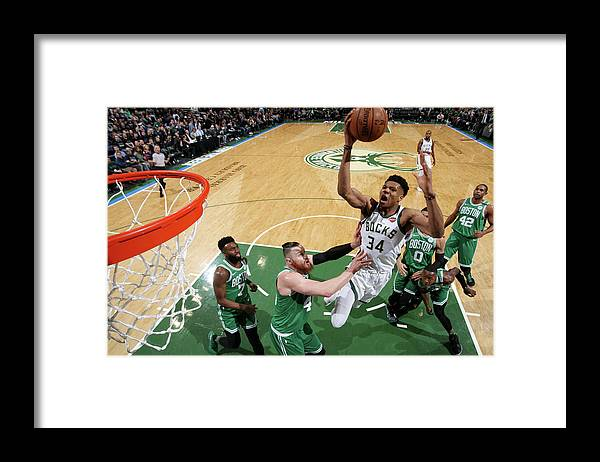 Playoffs Framed Print featuring the photograph Giannis Antetokounmpo by Gary Dineen