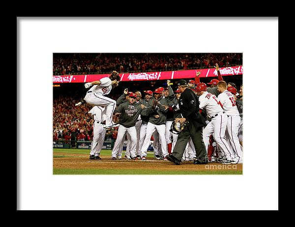Playoffs Framed Print featuring the photograph Jayson Werth by Rob Carr