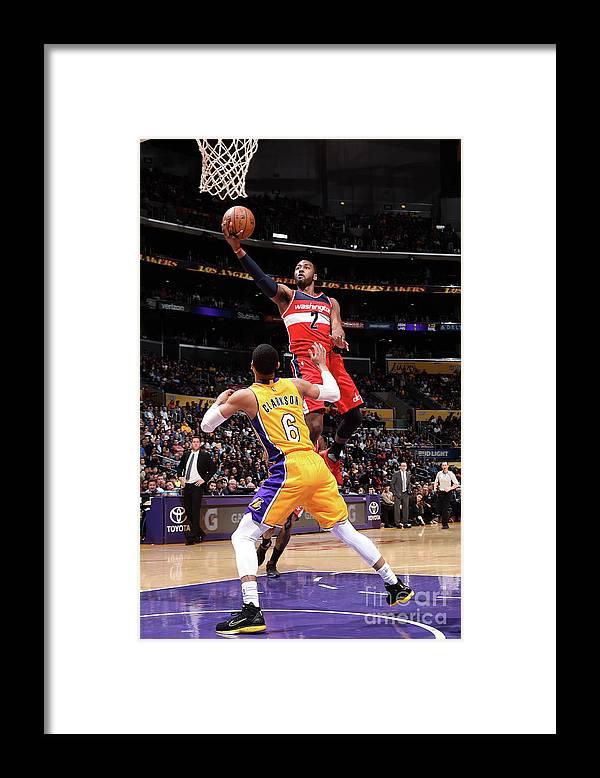 Nba Pro Basketball Framed Print featuring the photograph John Wall by Andrew D. Bernstein