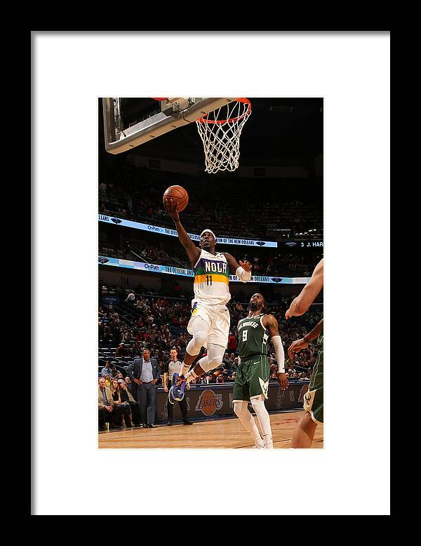 Smoothie King Center Framed Print featuring the photograph Jrue Holiday by Layne Murdoch Jr.