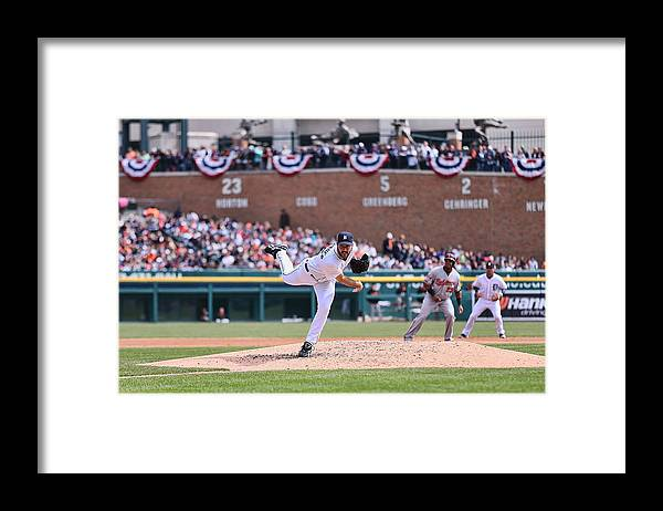 American League Baseball Framed Print featuring the photograph Justin Verlander by Leon Halip