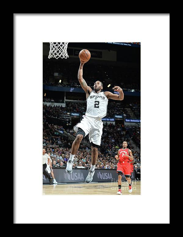 Nba Pro Basketball Framed Print featuring the photograph Kawhi Leonard by Mark Sobhani