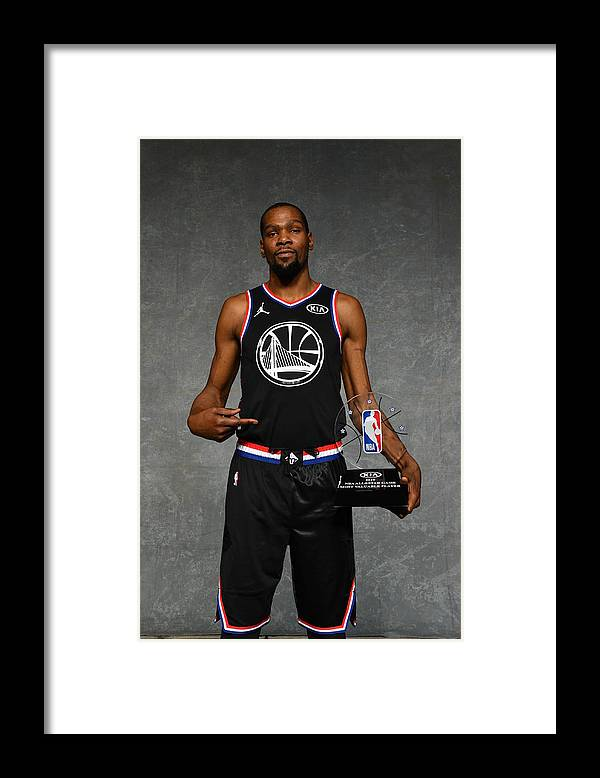 Nba Pro Basketball Framed Print featuring the photograph Kevin Durant by Jesse D. Garrabrant