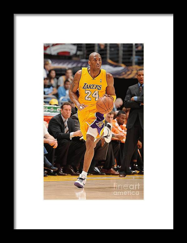 Nba Pro Basketball Framed Print featuring the photograph Kobe Bryant by Andrew D. Bernstein