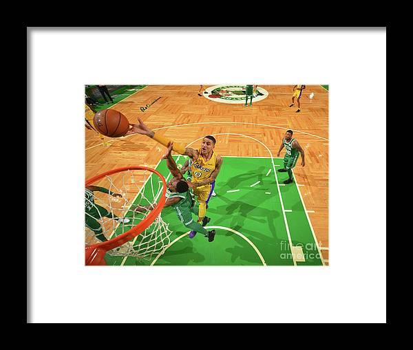 Nba Pro Basketball Framed Print featuring the photograph Kyle Kuzma by Jesse D. Garrabrant