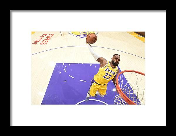 Nba Pro Basketball Framed Print featuring the photograph Lebron James by Adam Pantozzi
