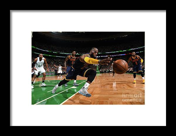 Playoffs Framed Print featuring the photograph Lebron James by Brian Babineau
