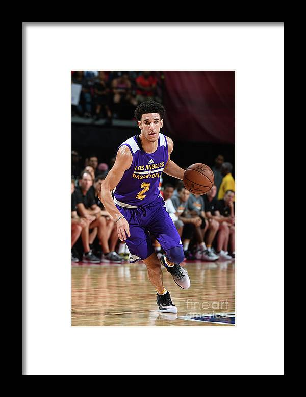 Nba Pro Basketball Framed Print featuring the photograph Lonzo Ball by Garrett Ellwood