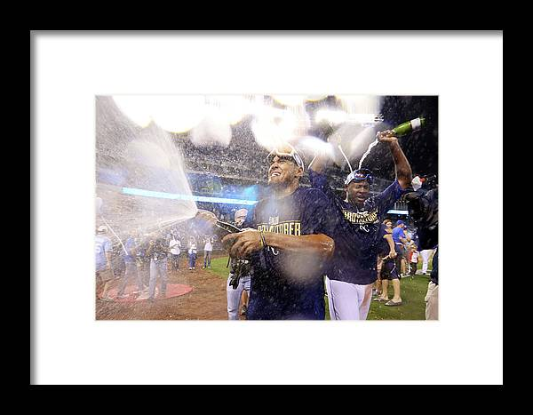 Playoffs Framed Print featuring the photograph Lorenzo Cain by Ed Zurga