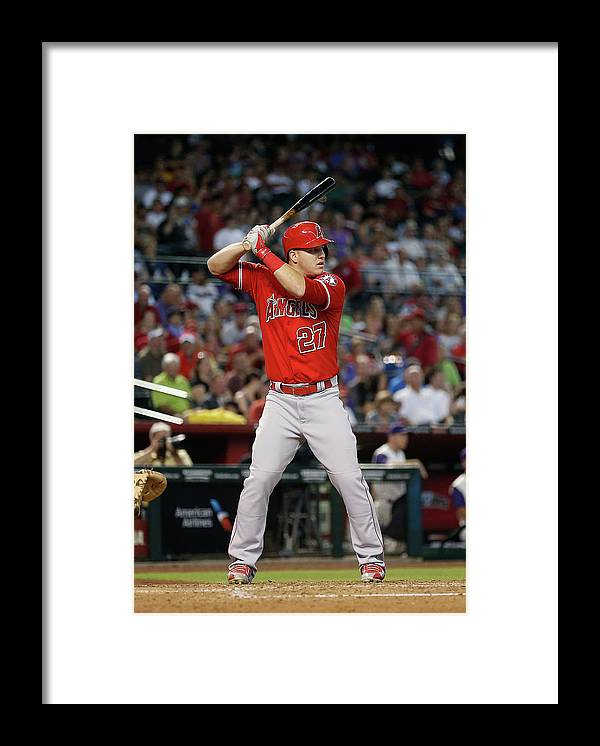 People Framed Print featuring the photograph Mike Trout by Christian Petersen