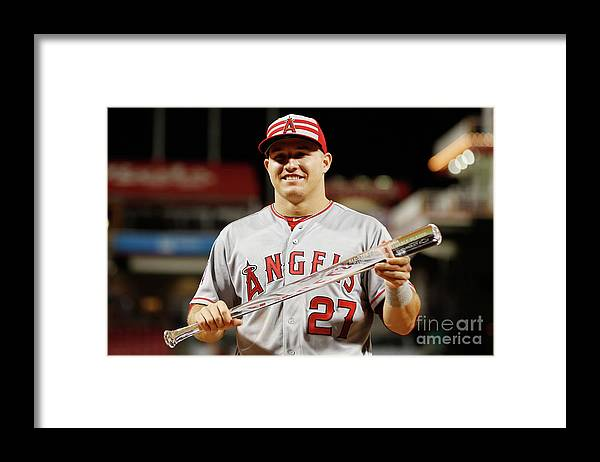 Great American Ball Park Framed Print featuring the photograph Mike Trout by Rob Carr
