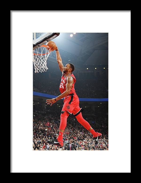 Nba Pro Basketball Framed Print featuring the photograph Norman Powell by Ron Turenne