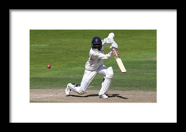 Nottinghamshire Framed Print featuring the photograph Nottinghamshire v Lancashire - Specsavers County Championship: Division One by David Rogers