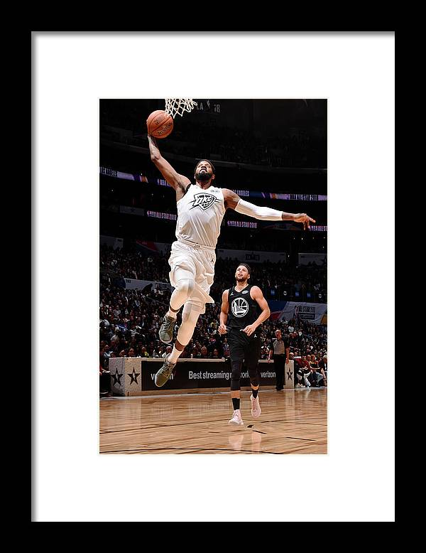 Nba Pro Basketball Framed Print featuring the photograph Paul George by Andrew D. Bernstein