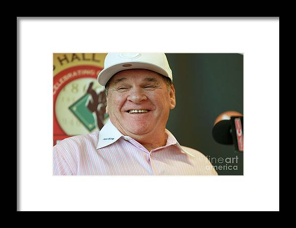 Great American Ball Park Framed Print featuring the photograph Pete Rose by Mark Lyons